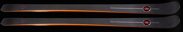 AK Skis Orange.