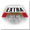Extra thick ABS sidewalls