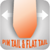 pin tail and flat tail