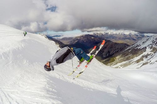 Alex Adams on the Line Sir Francis Bacon, Craigieburn Valley Ski Area, NZ
