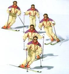 Стадии умения кататься на лыжах